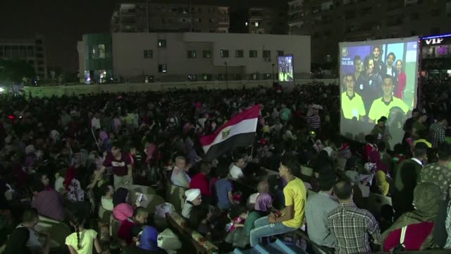supporters of the egyptian national team in the capital cairo react after egypt lost 31 to russia - national team stock videos & royalty-free footage