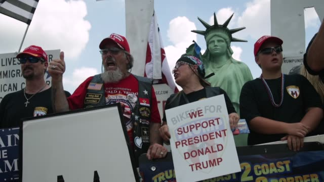 """Supporters of US President Donald Trump participate in a """"Mother of All Rallies"""" Hundreds of supporters of US President Donald Trump from around the..."""