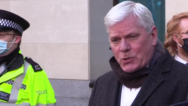 supporters of wikileaks' founder julian assange staged a protest outside the old bailey as assange's lawyers sought bail for their client in london... - 2010 2019 stock videos & royalty-free footage