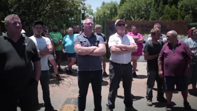 ANC supporters protest for the third day against classes being taught in Afrikaans at Hoerskool Overvaal in Vereeniging which they claim is racial...
