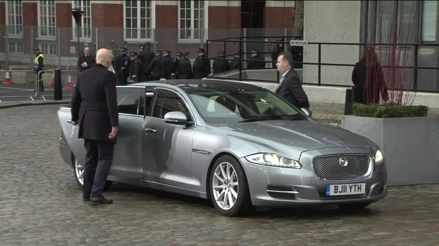 arrivals ENGLAND London QEII Centre EXT Ban Kimoon arriving and photocall / David Cameron MP arriving at conference and entering / Angela Merkel...