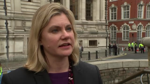 david miliband and justine greening interviews justine greening mp interview sot - david miliband stock videos & royalty-free footage