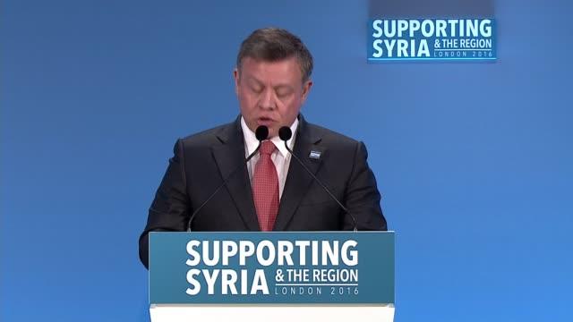 Opening speeches Cameron introductory speech SOT / King Abdullah II Bin Al Hussein speech SOT