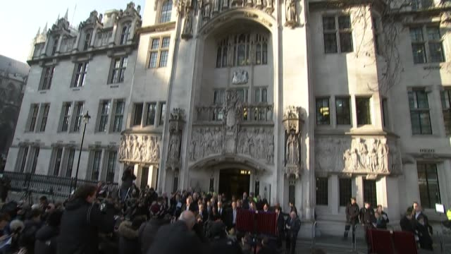 baroness hale appointed president t24011701 / 2412017 london ext various of press and protesters outside the supreme court during the legal challenge... - baroness stock videos & royalty-free footage