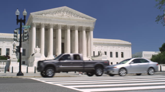 ms supreme court building during day / washington, district of columbia, united states - oberstes bundesgericht der usa stock-videos und b-roll-filmmaterial