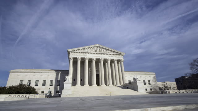 supreme court building hyper lapse - supreme court stock videos & royalty-free footage