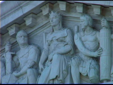 us supreme court building in washington dc - female likeness stock videos & royalty-free footage