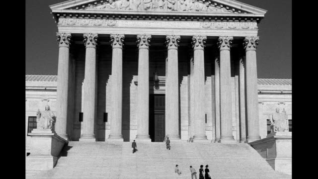supreme court building, people walking on steps. us supreme court building on january 01, 1930 - us supreme court building stock videos & royalty-free footage