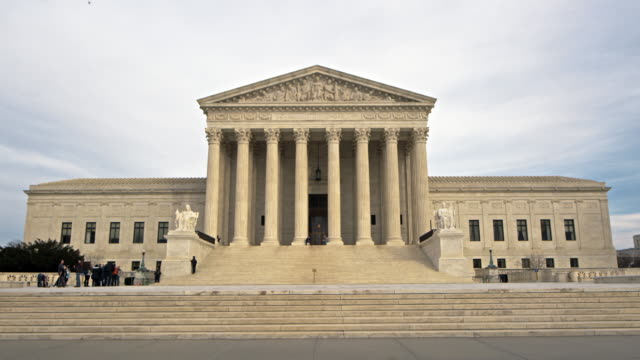 supreme court building time lapse day - supreme court stock videos & royalty-free footage