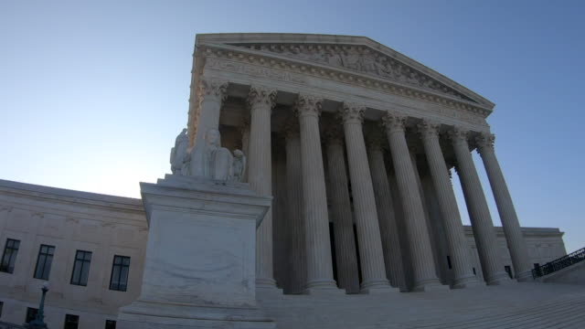 us supreme court building - american politics stock videos & royalty-free footage