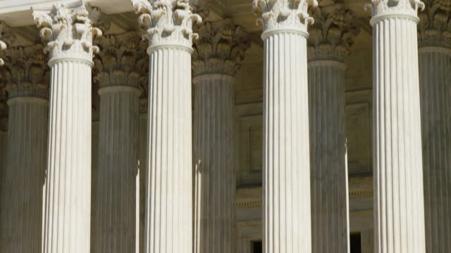 u.s. supreme court columns tilt up - supreme court stock videos & royalty-free footage