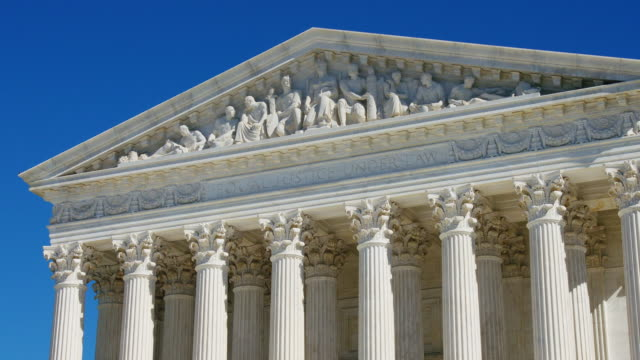 us supreme court ediface - oberstes bundesgericht der usa stock-videos und b-roll-filmmaterial