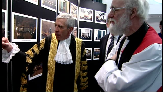 supreme court grand opening various shots of brown straw and williams being shown around jack straw looking at photographs and recounting an... - jack straw stock videos and b-roll footage