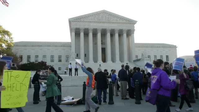 supreme court hears arguments on obamacare on march 26, 2012 in washington, dc - supreme court stock videos & royalty-free footage