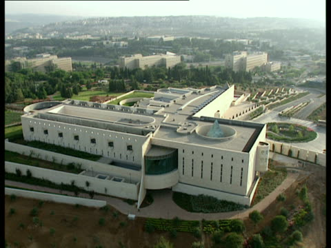 AERIAL WS Supreme Court in new city of Jerusalem, Israel