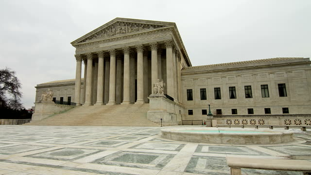 supreme court in washington, dc - oberstes bundesgericht der usa stock-videos und b-roll-filmmaterial