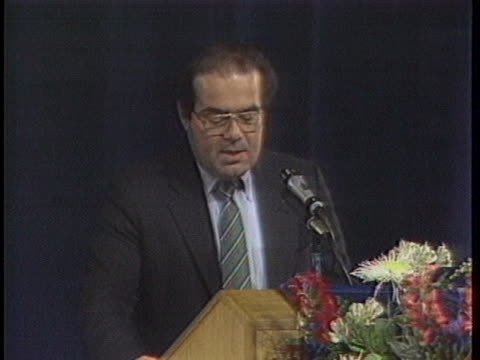 supreme court justice antonin scalia addresses an american bar association convention, calling for constitutional and court reforms. - 憲法点の映像素材/bロール