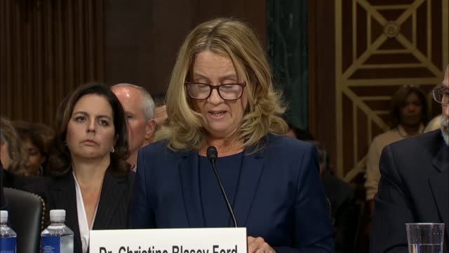 supreme court nominee judge brett kavanaugh sexual assault accuser christine blasey ford testifies before the senate judiciary committee that was the... - nominee stock videos & royalty-free footage