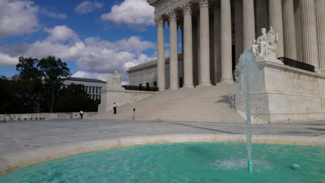 supreme court of the united states in washington, dc - 4k/uhd - us supreme court building stock videos & royalty-free footage