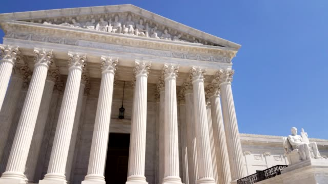 supreme court of the united states in washington, dc - governo video stock e b–roll