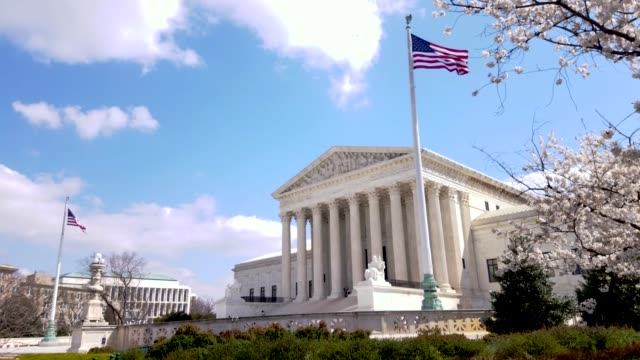 supreme court of the united states in washington, dc - courthouse stock videos & royalty-free footage
