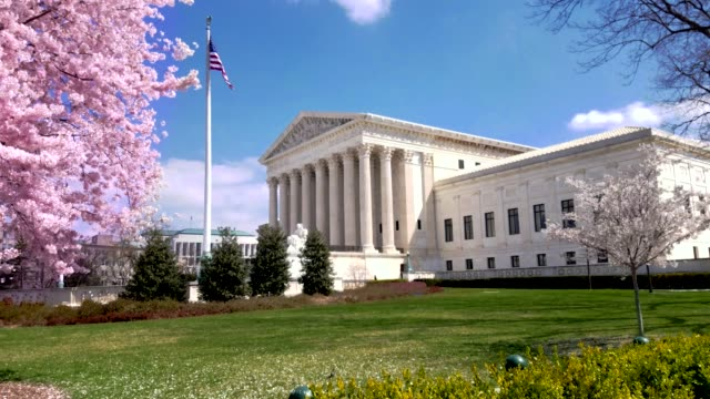 supreme court of the united states in washington, dc - us supreme court building stock videos and b-roll footage