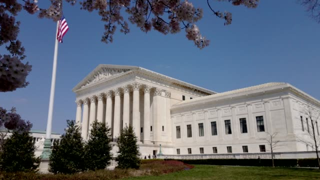 supreme court of the united states in washington, dc - us supreme court building stock videos & royalty-free footage