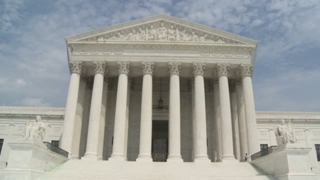 supreme court of the united states of america - oberstes bundesgericht der usa stock-videos und b-roll-filmmaterial