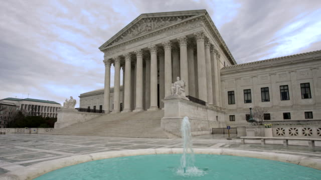 supreme court of the united states with fountain in washington, dc - supreme court stock videos & royalty-free footage