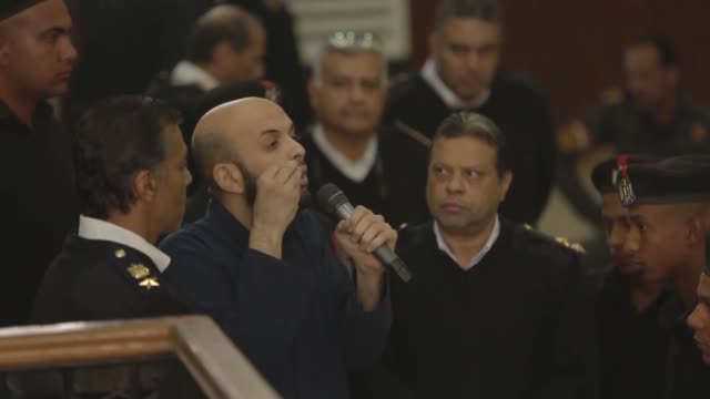 supreme guide of the muslim brotherhood mohamed badie, egyptian muslim brotherhood official issam al-'aryan, egyptian muslim brotherhood spokesperson... - 2017 stock videos & royalty-free footage