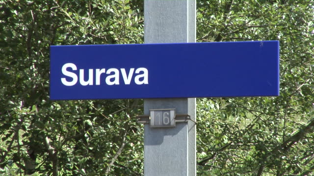 surava railway station on the albula railway - western script stock videos & royalty-free footage