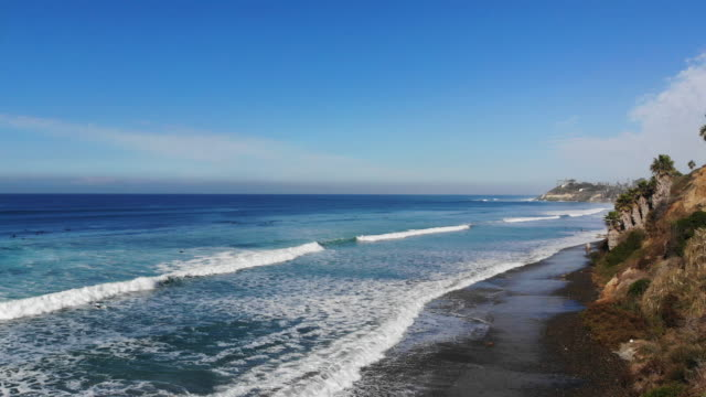 surf along the coast - san diego stock videos & royalty-free footage
