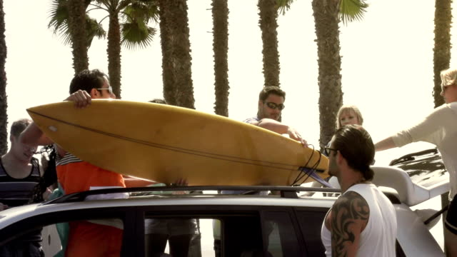 surf friends trip - surfboard stock videos and b-roll footage