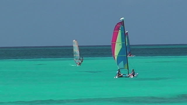 Surf in turquoise water of Caribbean sea
