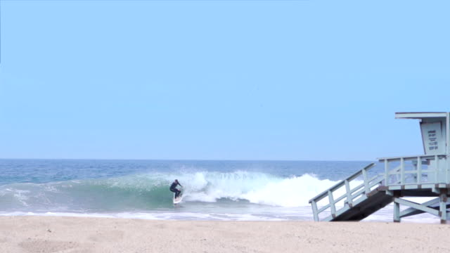 surf in usa - malibu beach stock videos & royalty-free footage