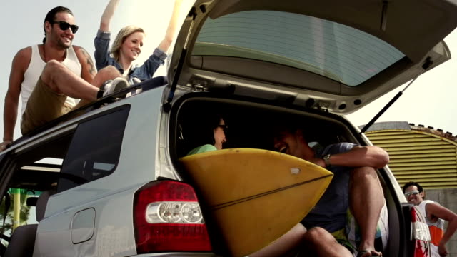 surf trip - surfboard stock videos & royalty-free footage