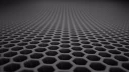 Surface consisting of hexagonal plates.
