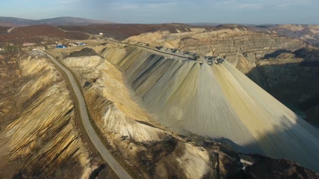 vídeos de stock, filmes e b-roll de mina superficial, vista aérea - exploração de minas