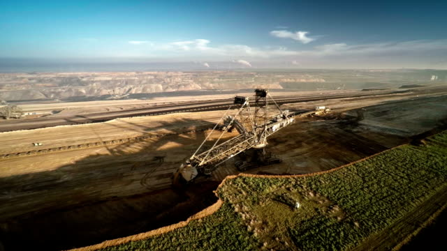 aerial : surface mine - mining natural resources stock videos & royalty-free footage