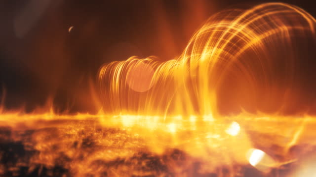 surface of the sun - solar flares - surface level stock videos & royalty-free footage