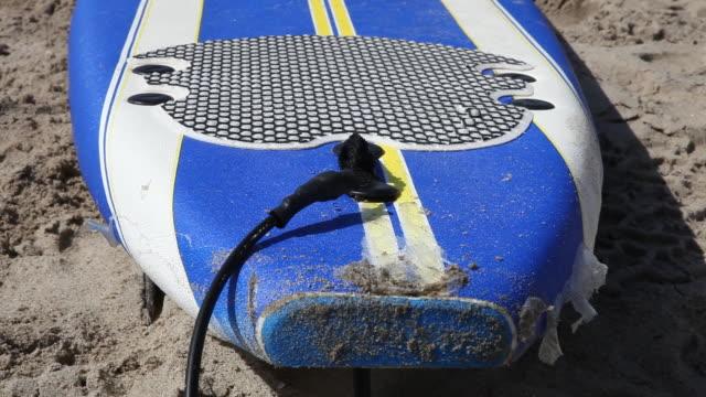 Surfboard on the beach of Venice Beach in Los Angeles California USA