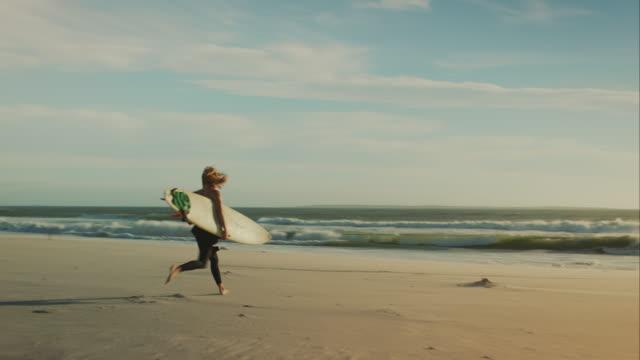 Surfer at beach