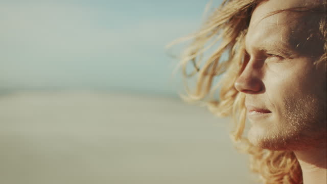 vídeos de stock, filmes e b-roll de surfista na praia - diving suit