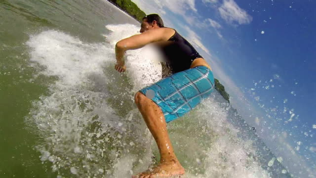 Surfer Catching the Challenging Waves of Costa Rica