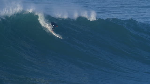 a surfer surfing waves on his surfboard. - wetsuit stock videos & royalty-free footage