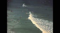 Surfers of Noordhoek Beach in 1980s