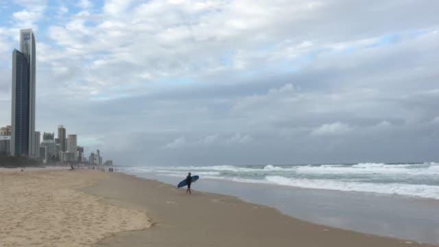 Surfers Paradise beach landscape Gold Coast Queensland Australia