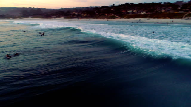 surfers - carmel california stock videos and b-roll footage