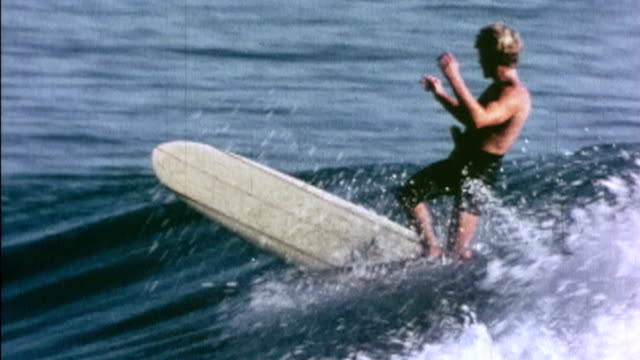 surfing at rincon and malibu - western usa stock videos & royalty-free footage