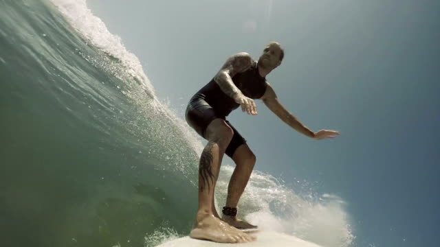 surfing in california - idyllic stock videos & royalty-free footage